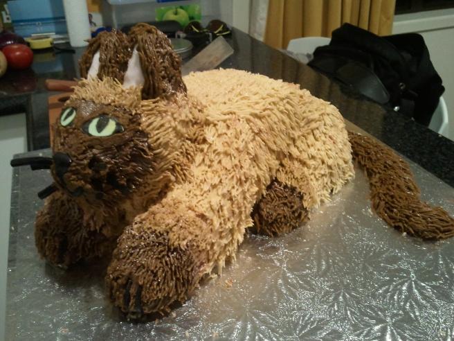 3D Burmese Cat Cake